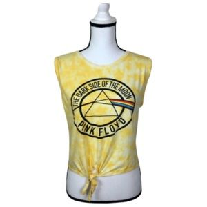 Pink Floyd tie front shirt